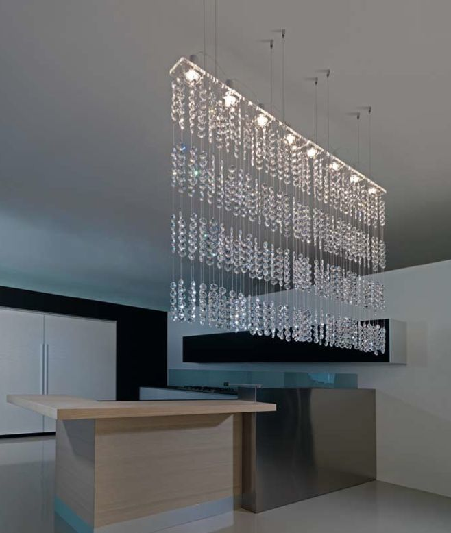 Marchetti. One Dream A. A Cascade Of Crystals In A Long Rectangular Shape.