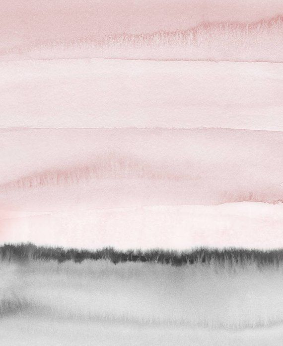 Blush Pink And Gray Print Printable Watercolor Print Pink And