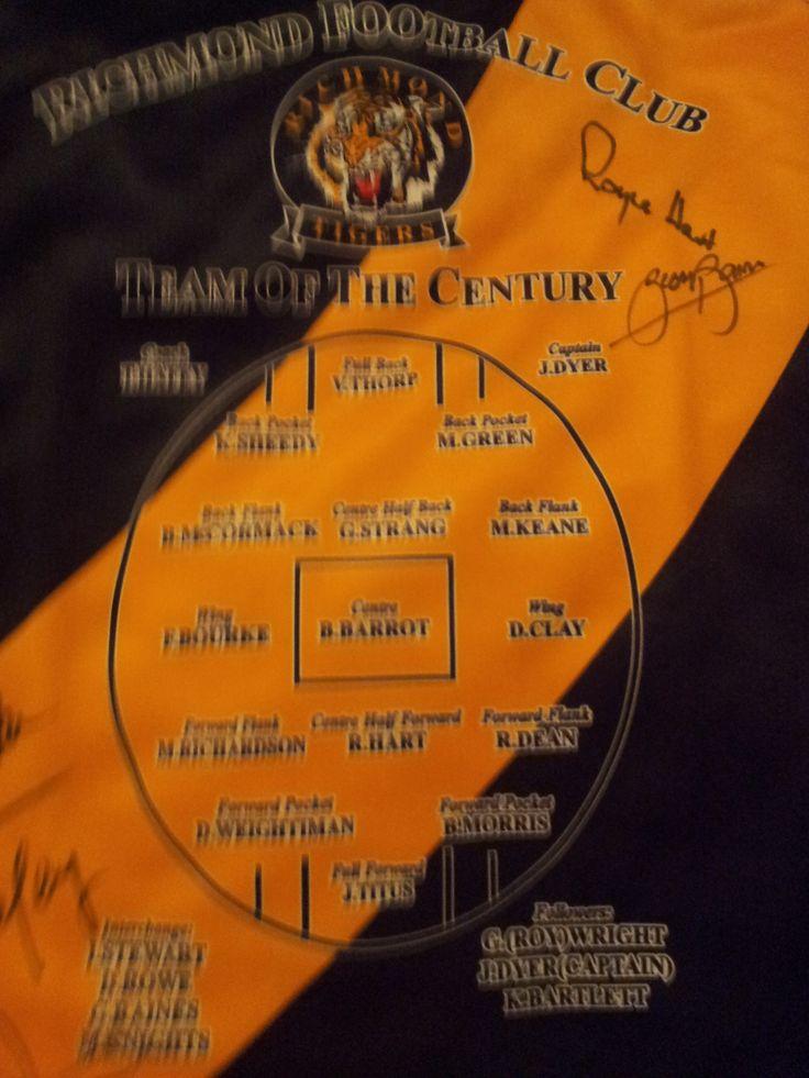 Richmond tigers jumper history book