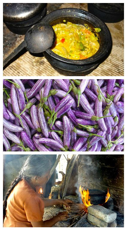 Eggplant curry - Wambattu curry - Authentic Sri Lankan video recipe filmed in a Sri Lankan village