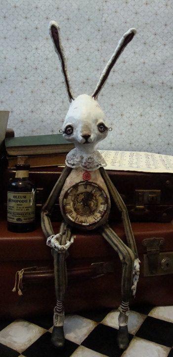 White Rabbit, puppet by Mark James Porter