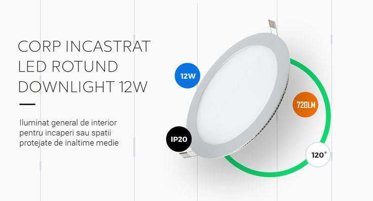 Iluminat perfect pentru spatii protejate de inaltime medie (pana la 6-8 metri): hale industriale, sali de sport, spatii comerciale, benzinarii. Cumpara aici: http://elda.ro/produs/corp-incastrat-led-rotund-downlight-12w-4000k-ip20-zd1132/