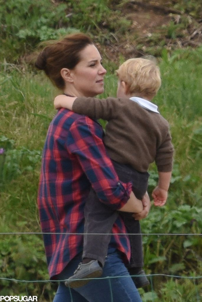 Kate Middleton and Prince George at the Park 2015 Pictures | POPSUGAR Celebrity