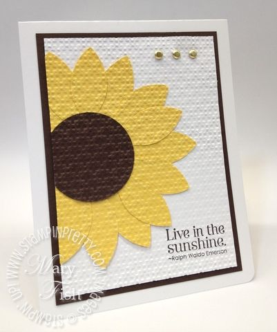 I've seen this technique several times in the last week...attach all your pieces to card front then use the SU Lattice embossing folder.  Gives a very unique and pretty look to cards. (MF/SP 4-20-12)