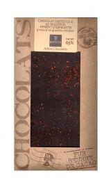 Bovetti 100g. Ciocolata dietetica neagra cu ardei Espelette