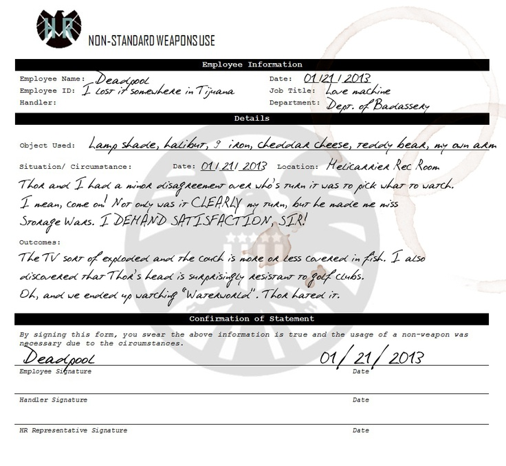 79 best SHIELD Human Resources images on Pinterest Marvel - employee clearance form