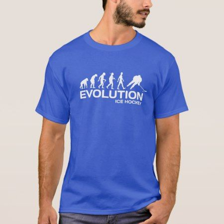 Ice Hockey player ape Evolution funny t-shirt mens - click to get yours right now!