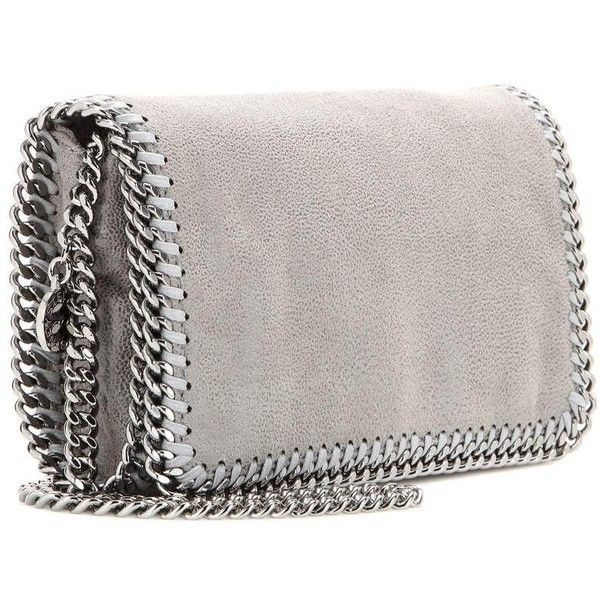 Stella McCartney Falabella Shaggy Deer Shoulder Bag (81390 RSD) ❤ liked on Polyvore featuring bags, handbags, shoulder bags, stella mccartney, gray handbags, stella mccartney purses, deer purse and vegan handbags