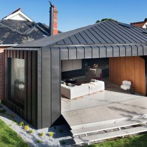 Matt Gibson's faceted Shadow House extends an Edwardian home in Melbourne's Elsternwick.
