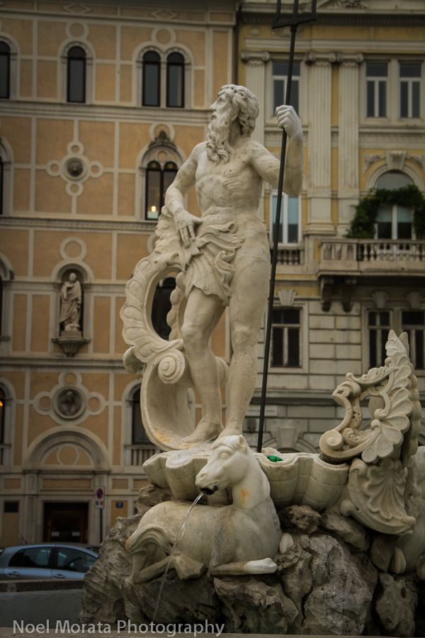 Trieste, Italy - At the main piazza fountain #italy #trieste #travel