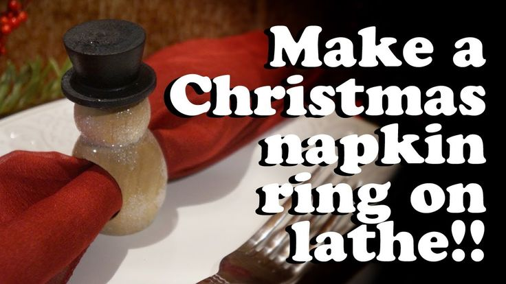 Woodturning a Christmas napkin ring #Christmas Ornament Challenge 2017