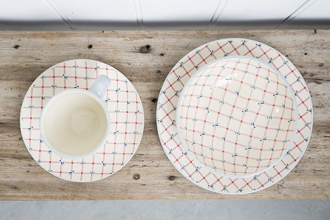 Dinner plate, Side plate, Bowl and Mug in Picnic