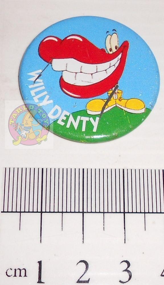 BURGHY 80s italy Willy Denti - pin - brooche - spilla promozionale Paninaro