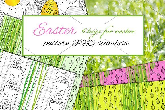 Easter Rattern and Tags by ImpressionShop on @creativemarket