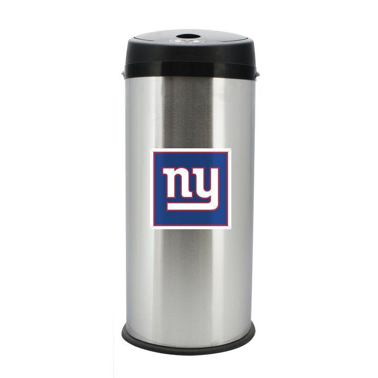 New York Giants Stainless Steel Trash Bin W/Motion Sensor, 30 Liter