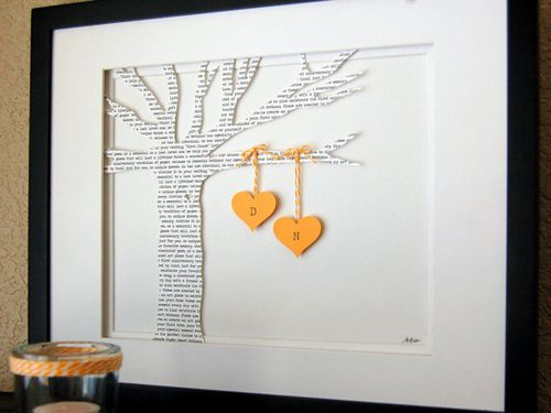 I adore this! Would make a great and unique gift for someone. The words on the tree could be anything from a special time to the words of a favorite song. Love it!