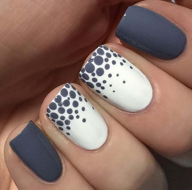Decorado gris y puntos