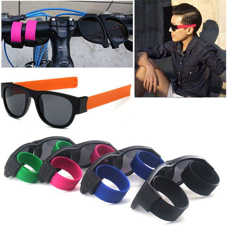 Slap Fashion Sunglasses Creative Wristband Slappable Glasses Snap Bracelet Bands #Unbranded #Sport