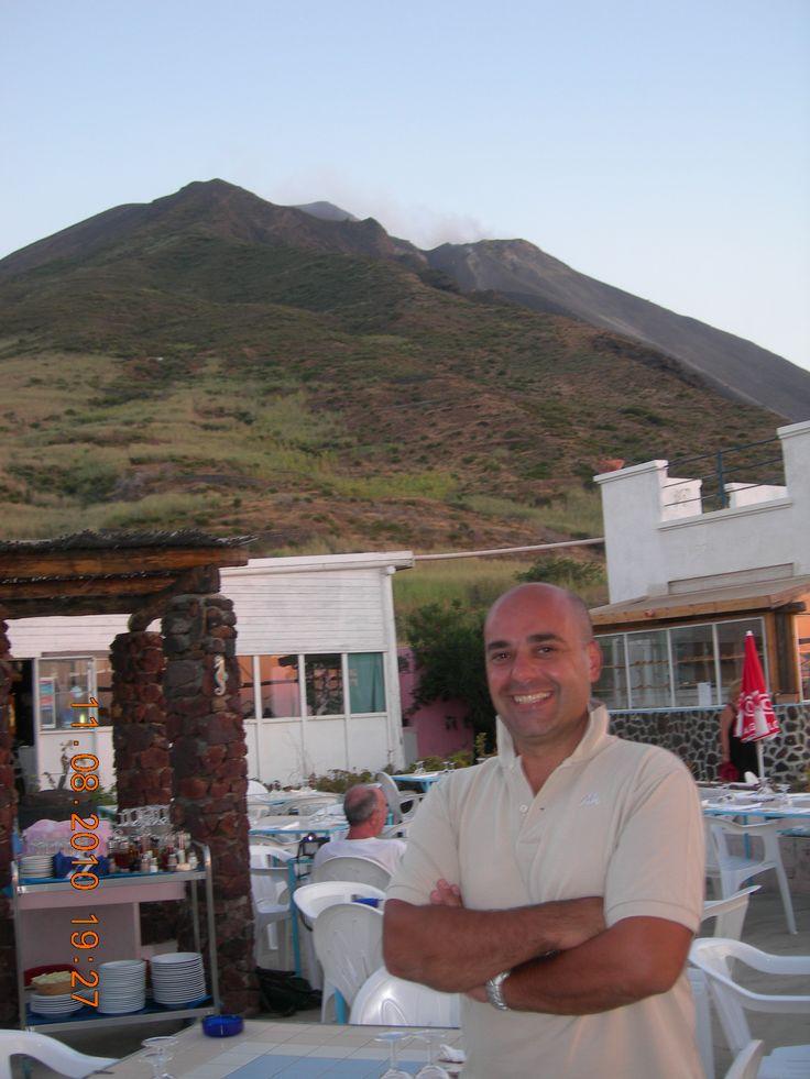 The restaurant on the volcano Stromboli