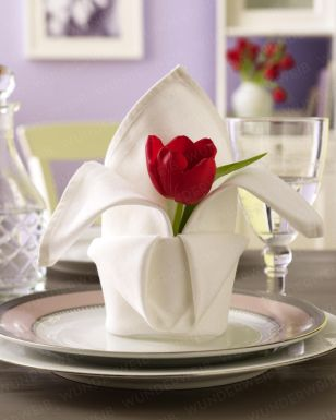 diy: tulip napkin...