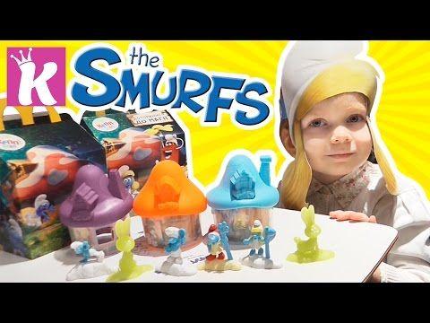 Смурфики рапаковка сюрпризов игрушек Smurfs Собираем домики Развивающее видео   Игры для детей - YouTube