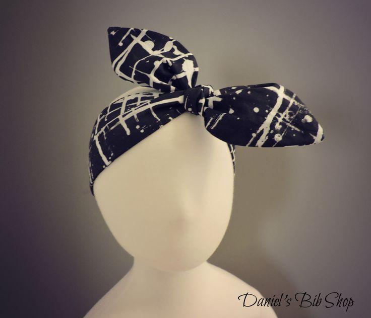Handmade paint splatter knotted baby headband