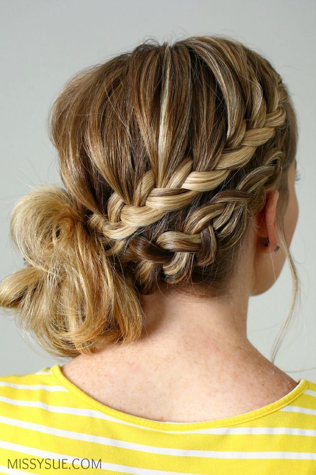 17 best ideas about braided side buns on pinterest side
