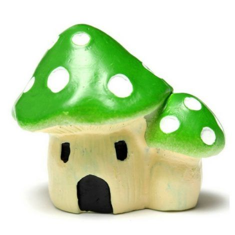 Mushroom Cluster House www.teeliesfairygarden.com Provide your gnomes the cutest shelter ever! This magical mushroom house can accommodate a whole gnome family. #fairymushroom