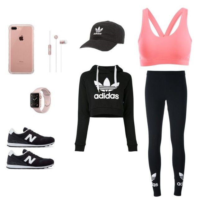 """Gym"" by guadalupe-chompa on Polyvore featuring moda, adidas Originals, New Balance, adidas y Belkin"