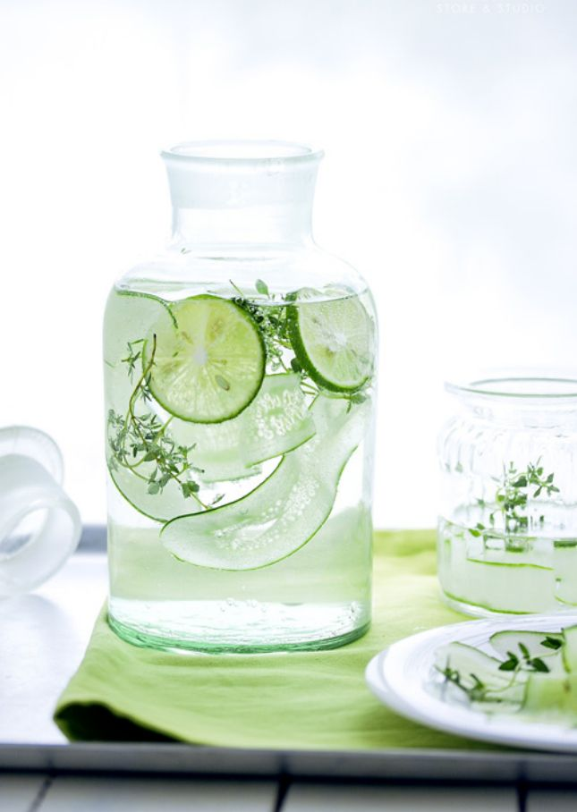 Cucumber Lemongrass Water by brit.com via eatboutique: Feel like you just came from a spa. #Flavored_Water #Cucumber #Lemongrass #Healthy