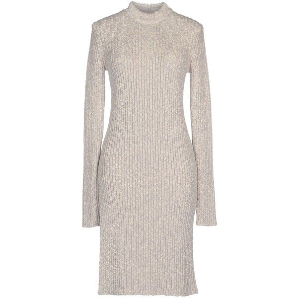 Céline Short Dress ($550) ❤ liked on Polyvore featuring dresses, light grey, long sleeve turtleneck top, short tube dress, long sleeve mini dress, long-sleeve turtleneck dresses and long sleeve turtleneck