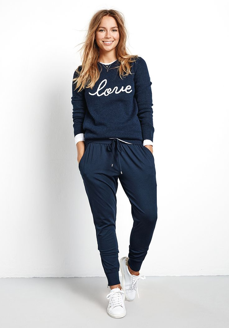 A luxe take on joggers. Comfortable loungewear, but paired with heels they can be worn for day through to evening.