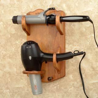 Hair Dryer Bathroom Caddy Flat Iron Curling Brush Holder
