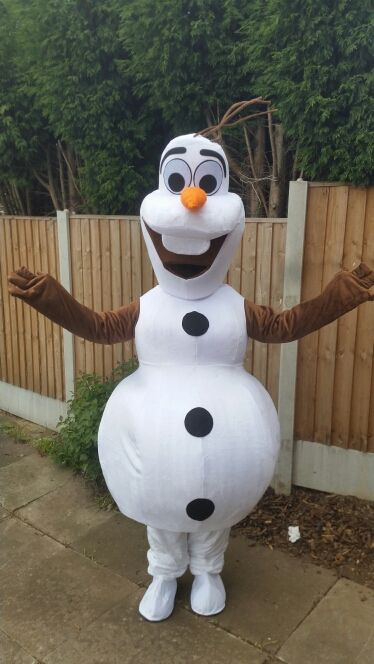 READY TO SHIP SMILING OLAF MASCOT COSTUME CARTOON CHARACTER COSTUME FREE SHIPPING(EMS)