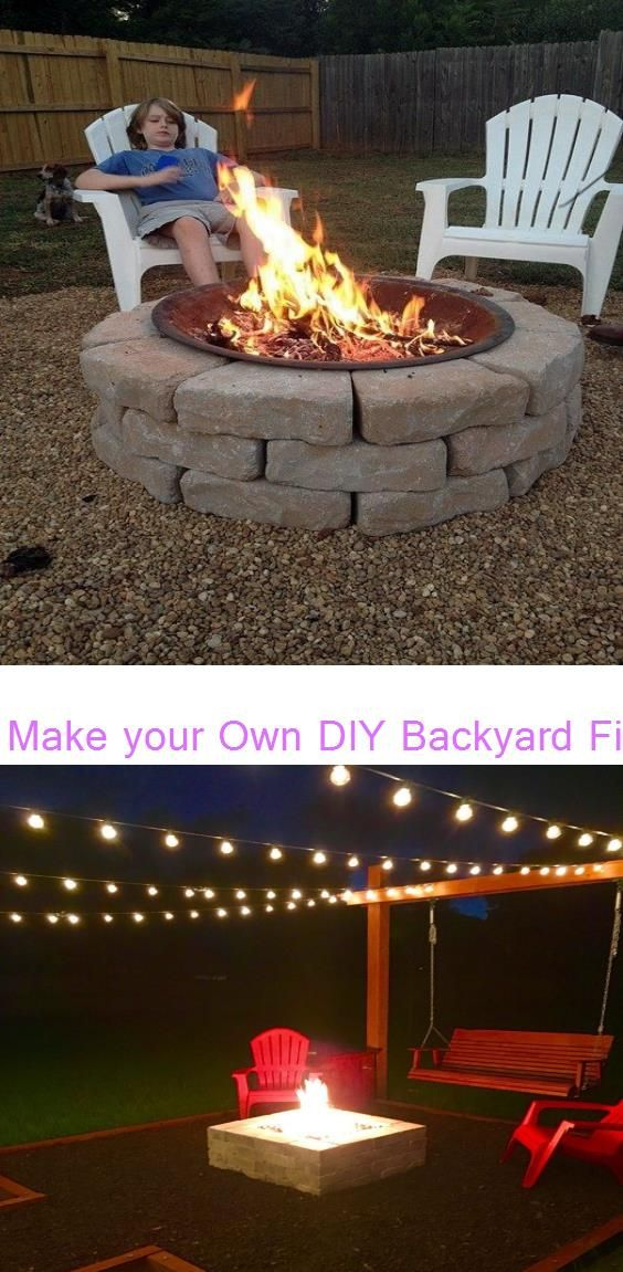 Make your Own DIY Backyard Fire Pit: Cheap Weekend Project ...
