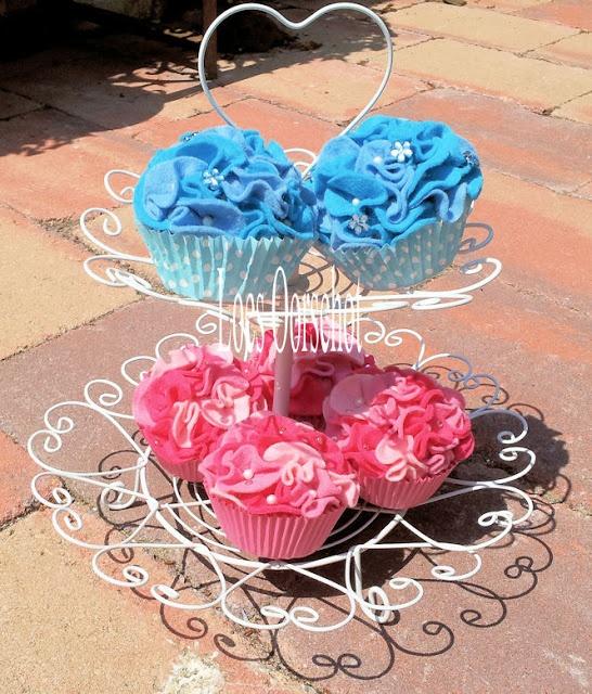Scrapaloes: Vilten cupcakes