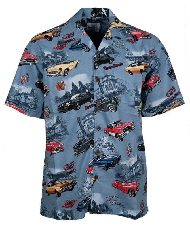 Buick Classic Cars Regal Skylark Riviera Hawaiian Camp Shirt – CF11NU478A9,Men's…