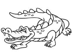 Coloriage Crocodile à colorier - Dessin à imprimer   Coloriage, Art crocodile, Dessin