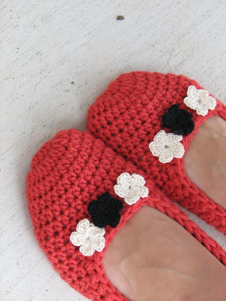 Crochet Women Slippers - Accessories, Adult Crochet Slippers,