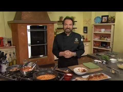 Classic Spaghetti and Meatballs - featuring Chef Nick Stellino - YouTube