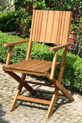 Funkcjonalne krzesło ogrodowe z podłokietnikami, wykonane z drewna akacjowego pokrytego olejem. Krzesło Falun II można złożyć co ułatwia jego przechowywanie.  http://meblefann.pl/product-pol-128-Rozkladane-krzeslo-ogrodowe-FALUN-II.html