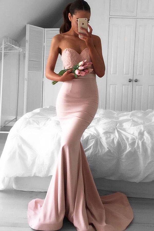 2017 prom dresses,long prom dresses,mermaid prom dresses,pink prom dresses,party dresses,pink evening dresses,sweetheart mermaid evening dresses,vestidos,fashion,girl fashion