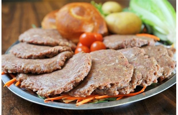 These beef patties for the King's University College cafeteria were made with beef from an organic farm near Millet.