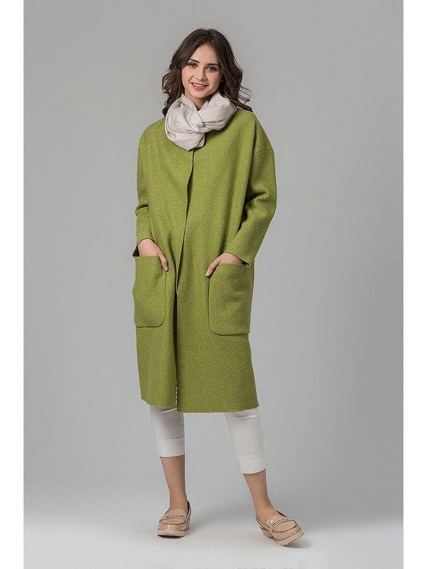 Пальто HELMIDGE. Цвет оливковый.