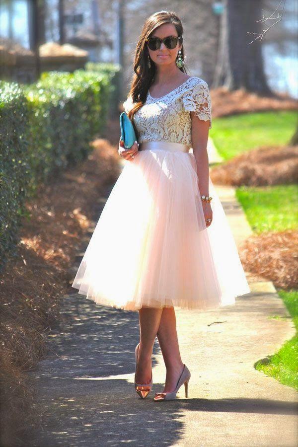 cool Jupon en tulle : Look para Invitadas: Faldas de Tul