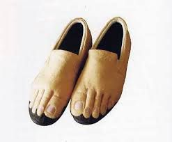 Feet slippers.