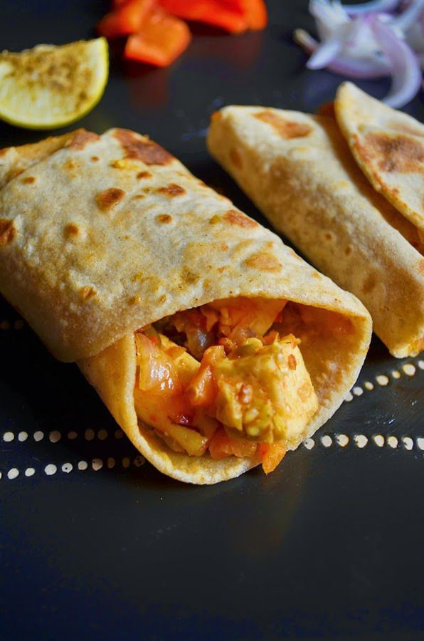 Veg kathi roll recipe: An easy and delicious way to serve roti with veggies for toddlers and kids recipe @ http://cookclickndevour.com/vegetables-kathi-roll