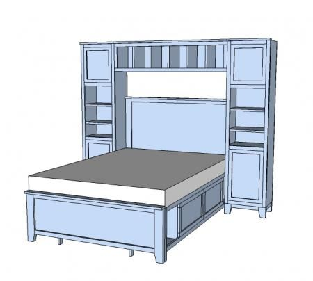 I want to make this!  DIY Furniture Plan from Ana-White.com  Storage Towers that can act as both a nightstand and a support system for a bed hutch. Add tons of storage to your child or teens room without taking up more space than nightstands. Works with the Hailey Storage Bedroom Collection.