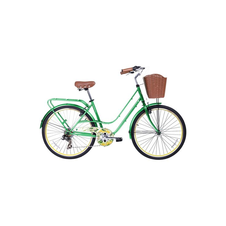 Gama Bikes Women's Avenue 26 7-Speed Urban Hybrid Commuter - Botanica, Lt Tent Green