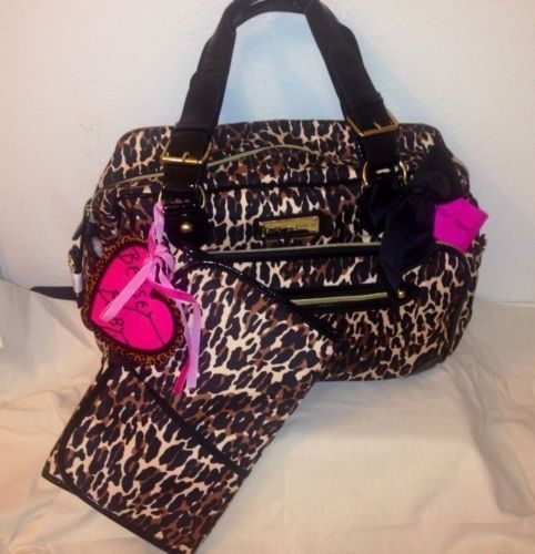 New Betsey Johnson Cheetah Punk Baby Diaper Duffle Weekender Bag Nwt Stuff Pinterest And Bags